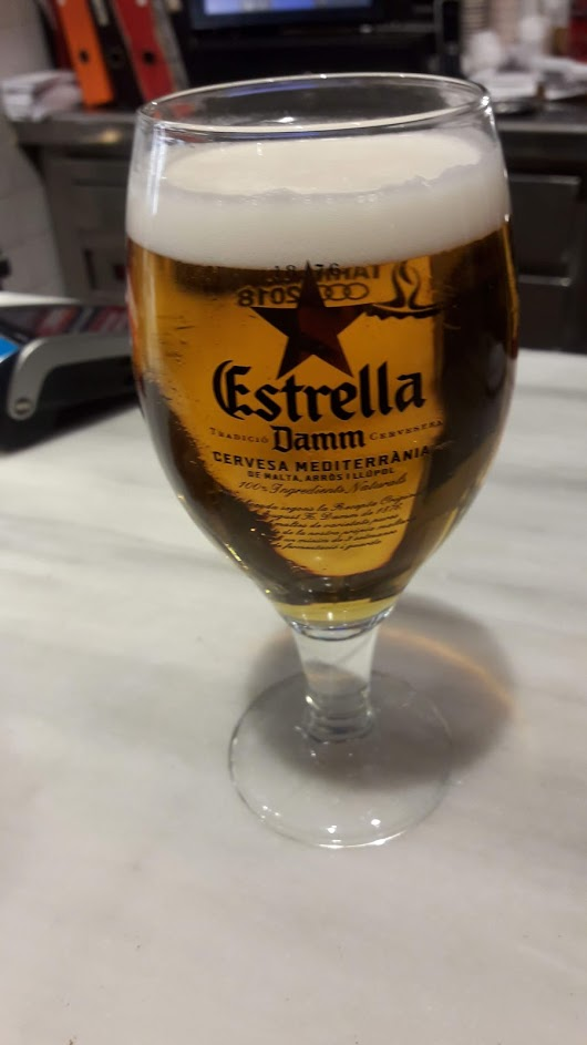 beer on Barcelona vacation
