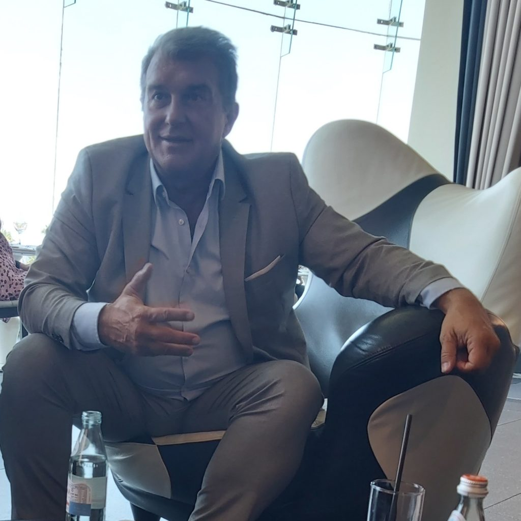 Serious talk with Joan Laporta