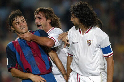 past encouters of Barcelona and sevilla